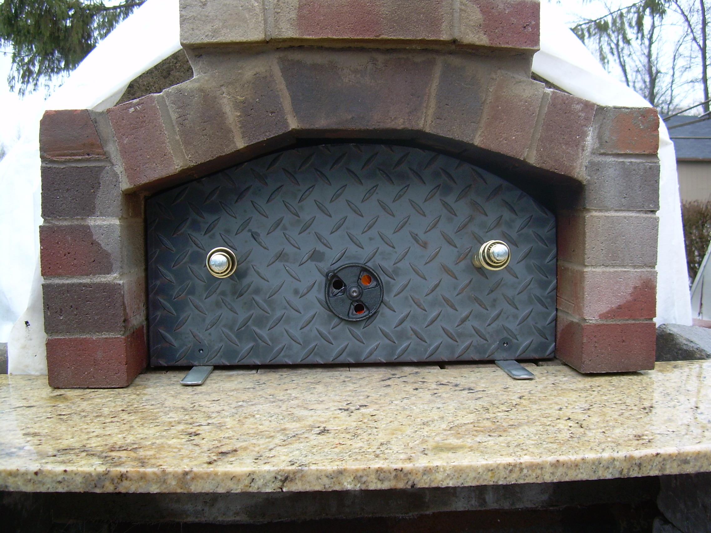 Oven door material forno bravo forum the wood fired for Door 2 door pizza