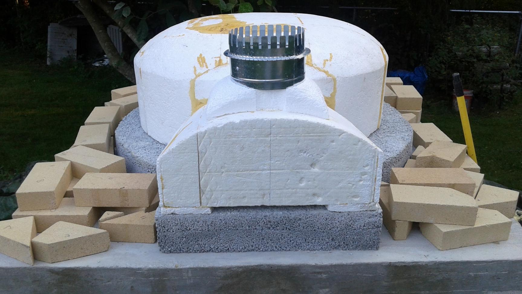 40 Quot Homemade Cast Dome Forno Bravo Forum The Wood Fired