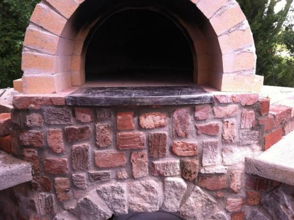 Entry with granite in place.  Not cleaned up, but ready for chimney.