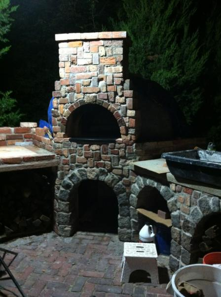 Chimney and proportions to base.