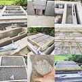 foundation and isolation. Used 7.5 cm thick LECA blocks, 5 cm LECA w/Portland cement, 5 cm vermiculite and finally 10 cm thich hearth slab